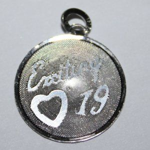 sterling silver Exciting 19 charm or pendant